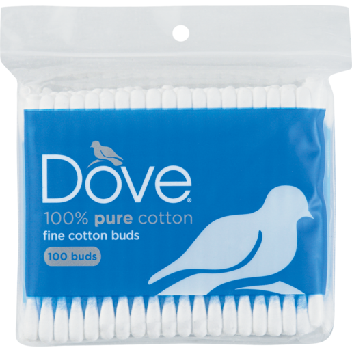 Dove 100% Pure Cotton Buds Zipper Bag 100 Pack