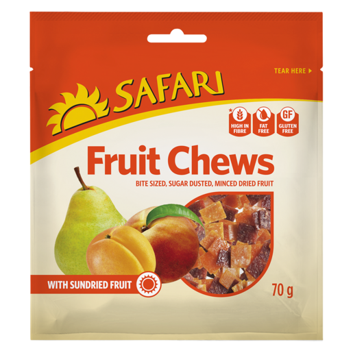 Safari Dried Fruit Chews 70g
