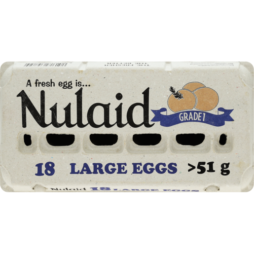 Nulaid Large Eggs 18 Pack