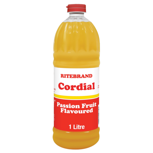 Ritebrand Passion Fruit Flavoured Cordial 1L