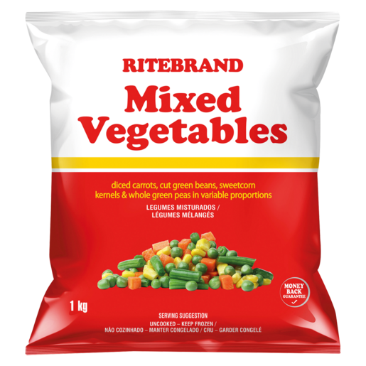 Ritebrand Frozen Mixed Vegetables 1kg