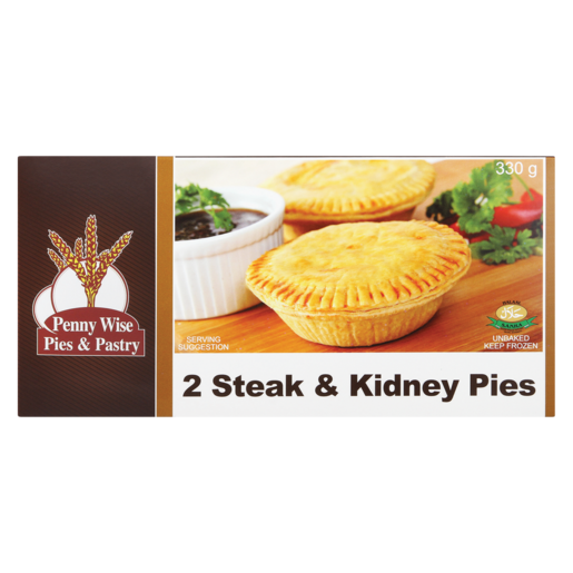 Pennywise Frozen Steak & Kidney Pies 2 Pack | Frozen Pies ...
