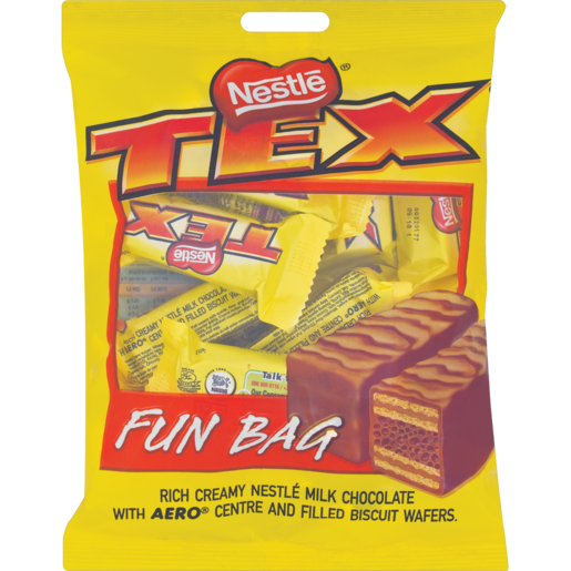 Nestlé Tex Chocolate Bar Fun Bag 200g