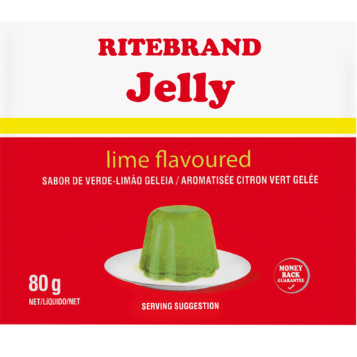 Ritebrand Lime Flavoured Instant Jelly 80g