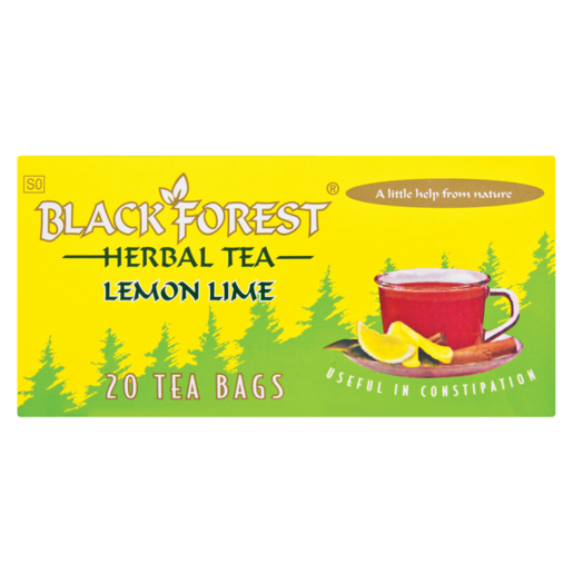 Black Forest Lemon Lime Herbal Laxative Teabags 20 Pack