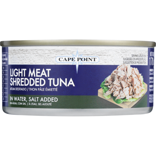 Cape Point Light Meat Shredded Tuna In Water, Salt Added 170g