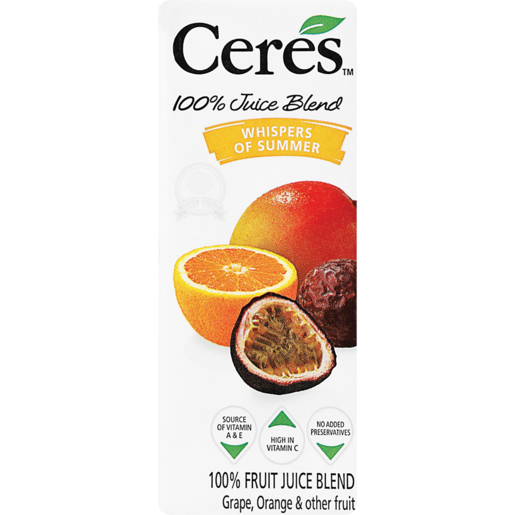 Ceres 100% Whispers Of Summer Fruit Juice 200ml