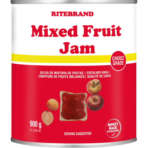 Ritebrand Mixed Fruit Jam Can 900g