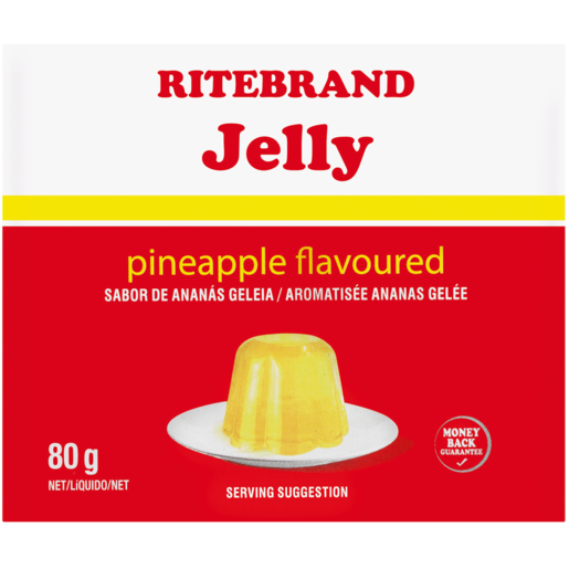Ritebrand Pineapple Flavoured Instant Jelly 80g