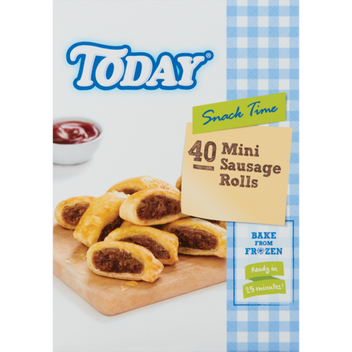 Today Frozen Sausage Rolls Snack 40 Pack
