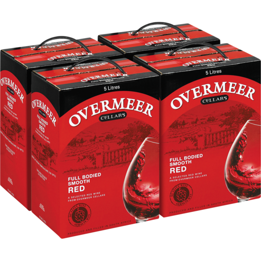 Overmeer Cellars Full Bodied Smooth Red Wine Cartons 4 x 5L