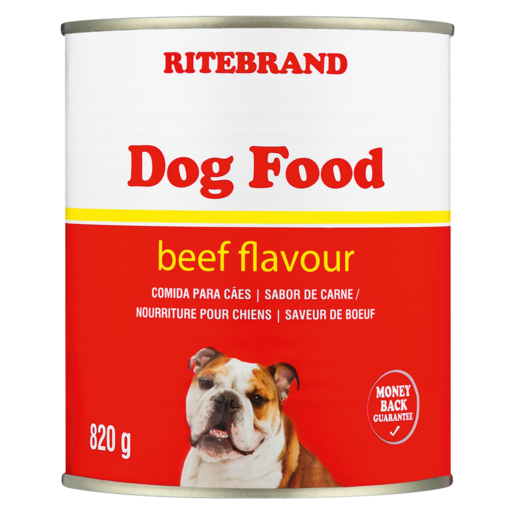 Ritebrand Beef Flavoured Dog Food Can 820g
