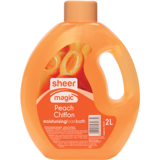 Sheer Magic Peach Chiffon Moisturising Foam Bath 2L