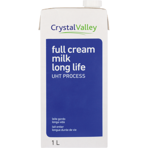 Crystal Valley Long Life Full Cream Milk 1L