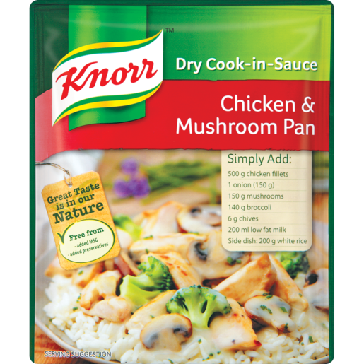 Knorr Chicken & Mushroom Cook-In-Sauce 48g