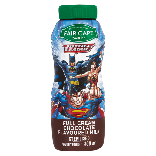 Fair Cape Justice League Full Cream Chocolate Flavoured Milk 300ml