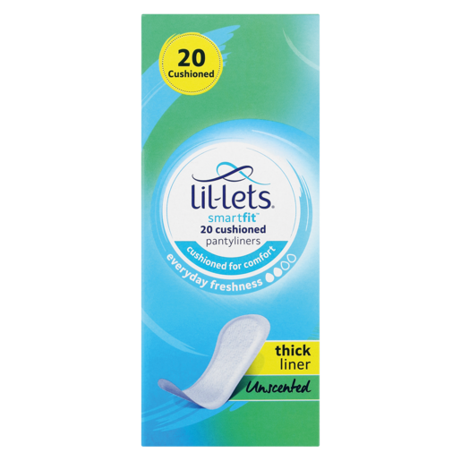 Lil-Lets SmartFit Everyday Freshness Thick Unscented Panty Liners 20 Pack