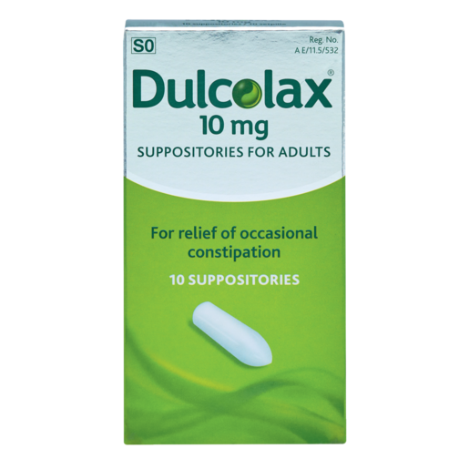 Dulcolax Laxative Suppositories For Adults 10 Pack