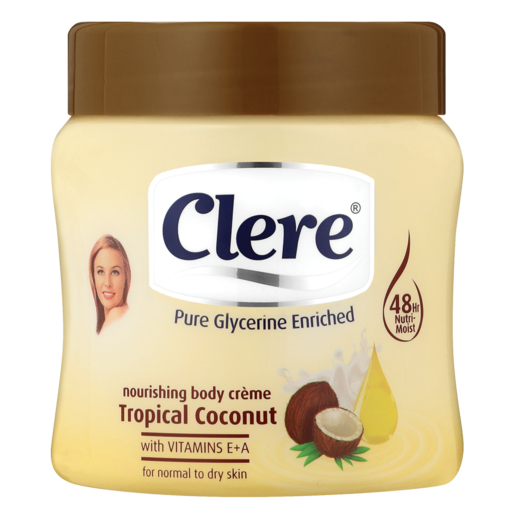 Clere Tropical Coconut Body Crème 300ml