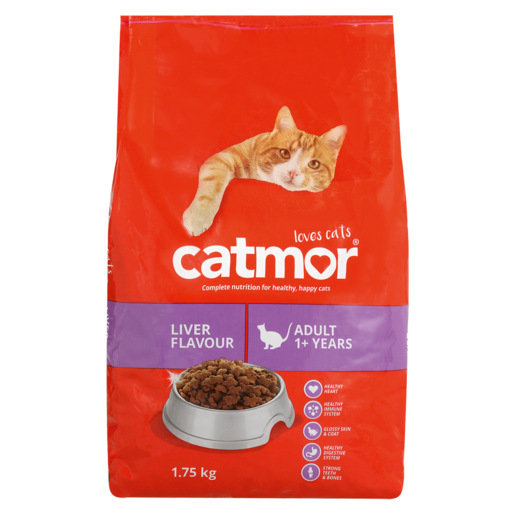 Catmor Adult Liver Flavour Cat Food Pack 1.75kg