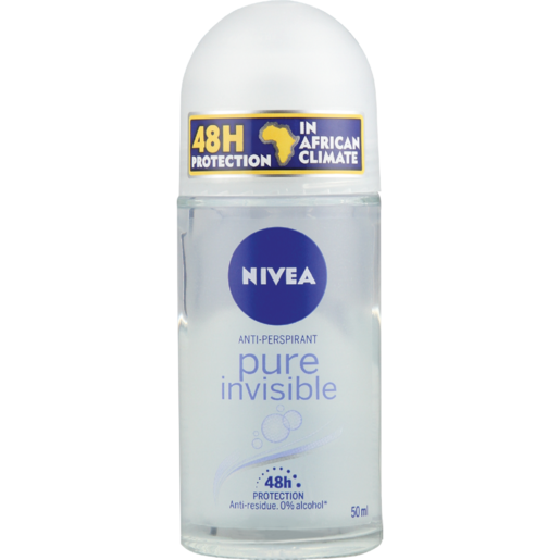 Nivea Pure Invisible Ladies Anti-Perspirant Roll-On 50ml