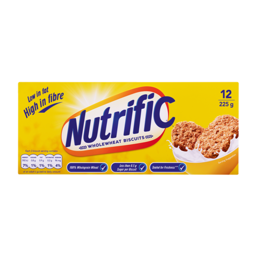 Nutrific Wholewheat Biscuits Cereal 225g