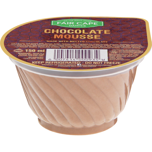 Fair Cape Chocolate Mousse Dessert 150ml