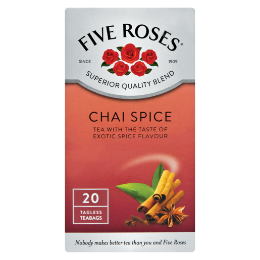 Five Roses Chai Spice Teabags 20 Pack
