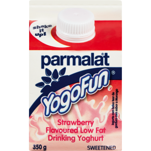 Parmalat YogoFun Strawberry Flavoured Yoghurt Drink Carton 350g