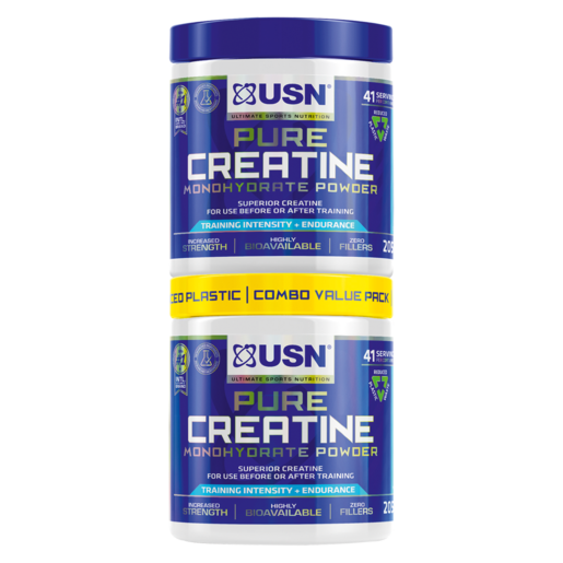 USN Pure Creatine Monohydrate Powder 2 x 100g