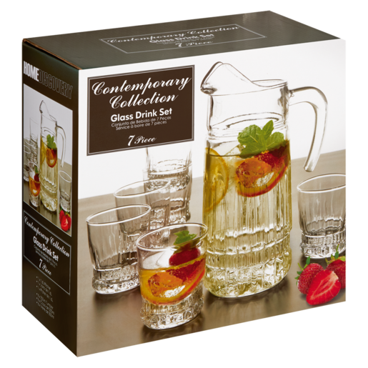 Contemporary Collection Glass Drink Set 7 Piece