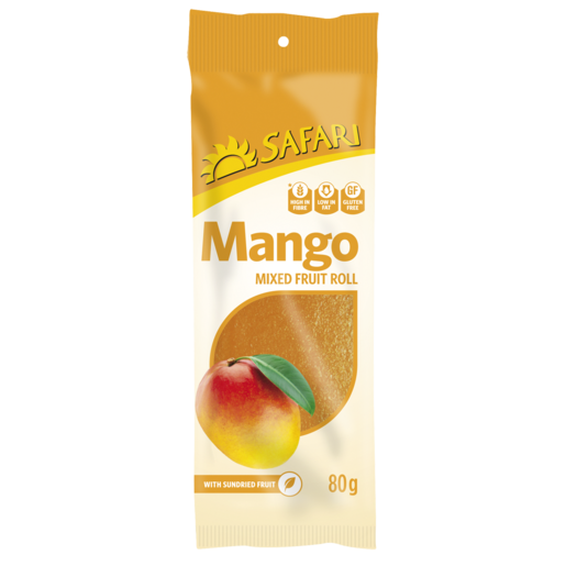 Safari Mango Mixed Fruit Roll 80g