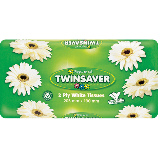 Twinsaver White Facial Tissues 90 Pack