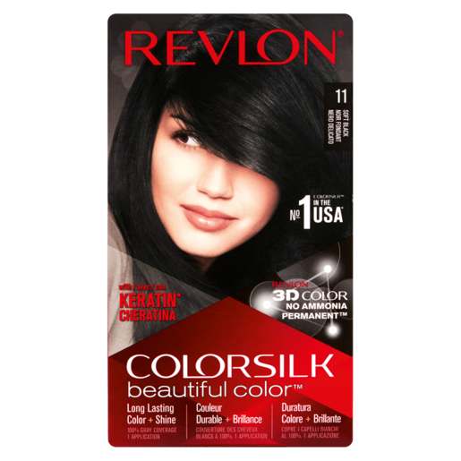 Revlon Colorsilk Beautiful Colour With Keratin Soft Black Hair Colour