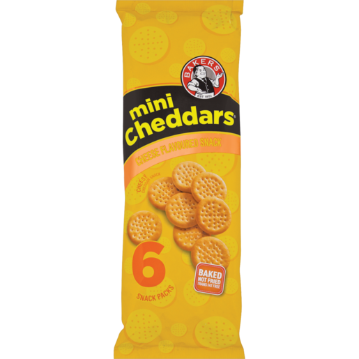 Bakers Cheese Mini Cheddars Pack 6 x 33g