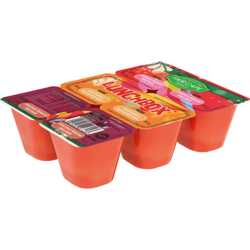 Fair Cape Lunchbox Sweetened Strawberry/Peach & Apricot/Mixed Berry Yoghurt 6 x 80g