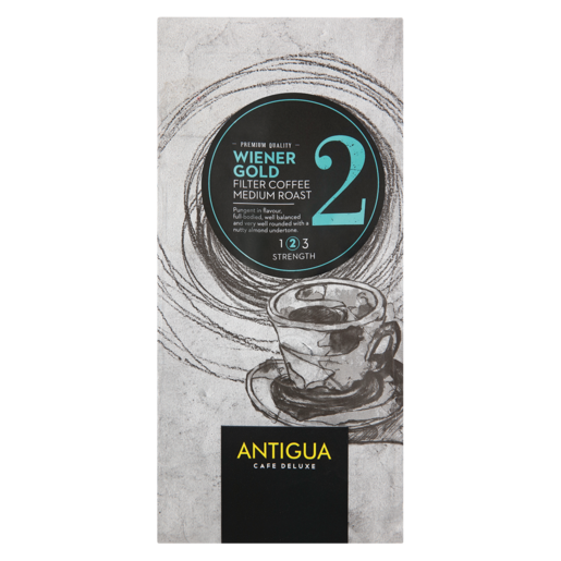 Antigua Café Deluxe Wiener Gold 2 Medium Roast Filter Coffee 250g