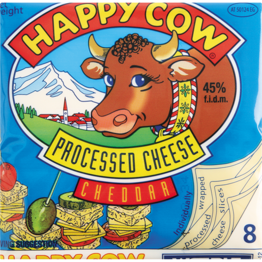 Happy Cow Processed Cheddar Cheese Slices 150g