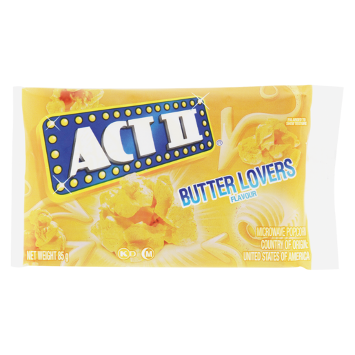 Act Ii Butter Lovers Flavoured Microwave Popcorn 85g Popcorn Chips Snacks Popcorn Food Cupboard Food Shoprite Za