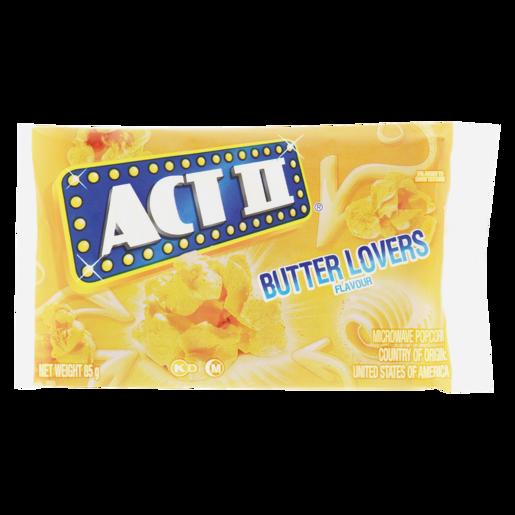 Act Ii Butter Lovers Flavoured Microwave Popcorn 85g Popcorn Chips Snacks Popcorn Food Cupboard Food Shoprite Za
