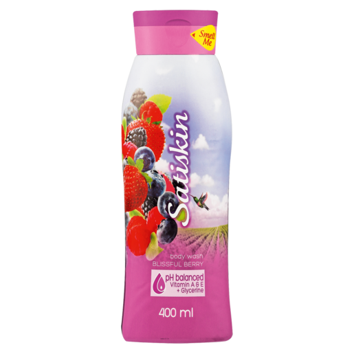 Satiskin Blissful Berry Body Wash 400ml