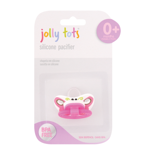 Jolly Tots Silicone Character Pacifier 0-6 Months