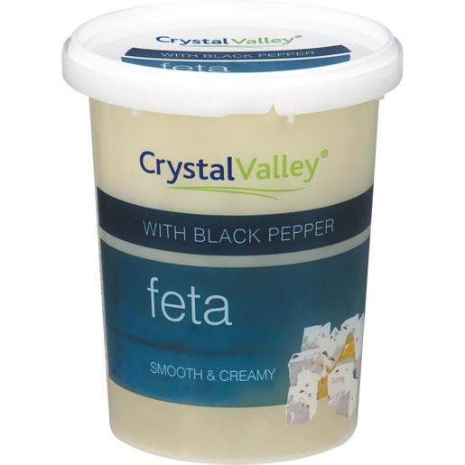 Crystal Valley Black Pepper Feta Cheese 400g