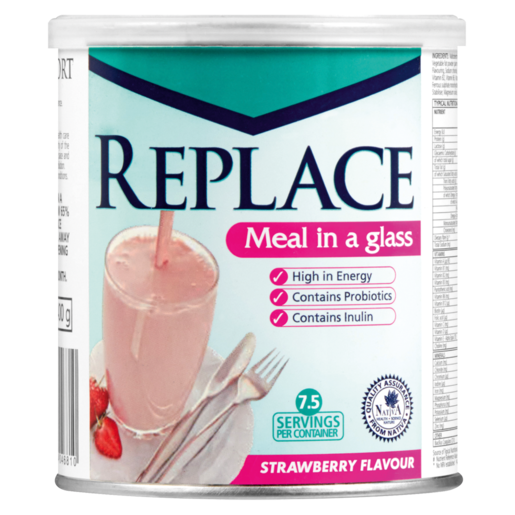 Replace Classic Strawberry Flavoured Protien Meal Replacement 400g