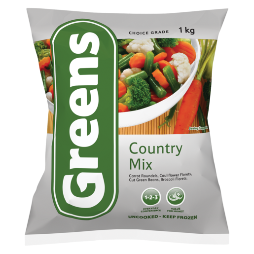 Greens Country Mix Frozen Vegetables 1kg