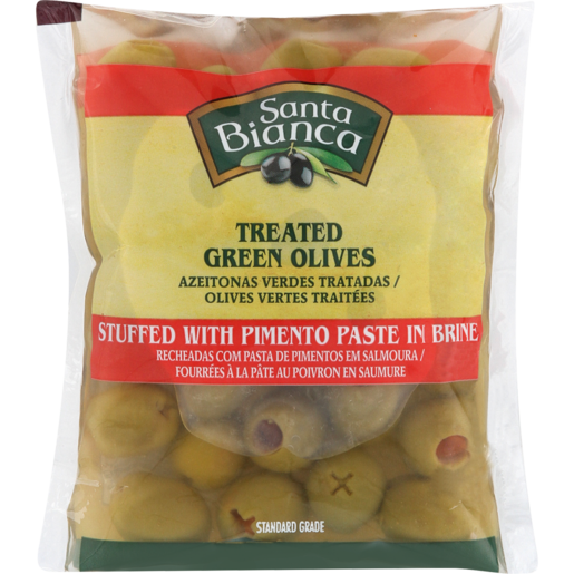 Santa Bianca Stuffed Green Olives 195g