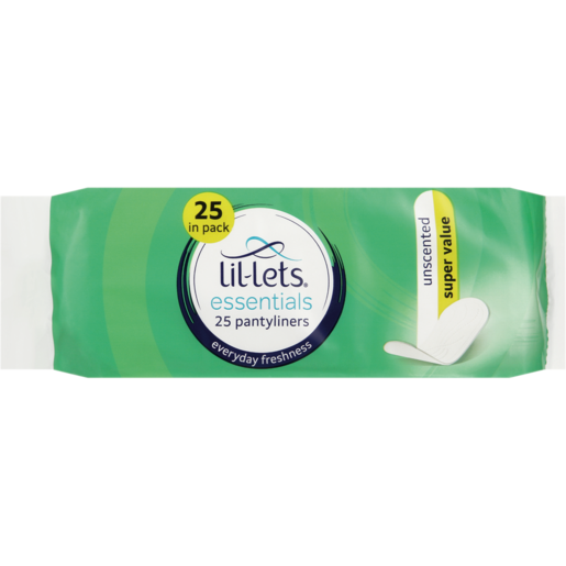 Lil-Lets Essentials Unscented Super Value Pantyliners 25 Pack