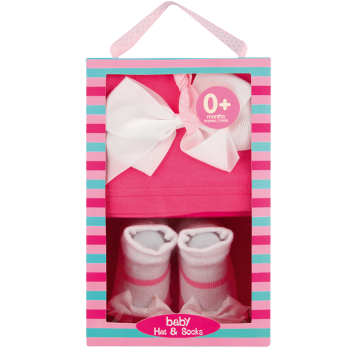 Jolly Tots Baby Hat & Socks Gift Set 2 Piece