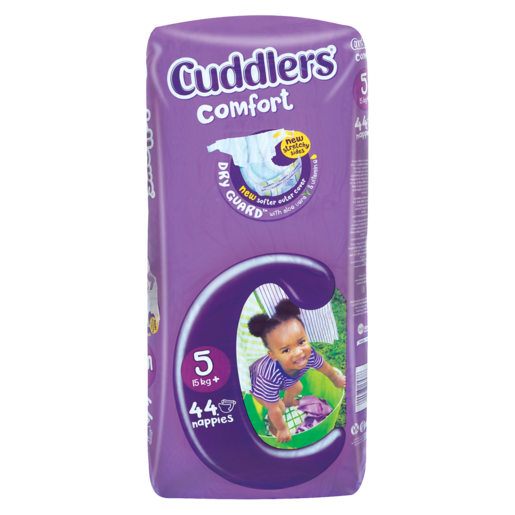 Cuddlers Comfort Size 5 Diapers 44 Pack