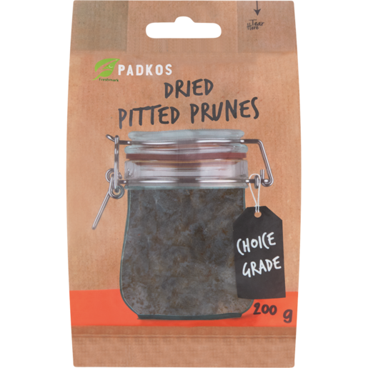 Padkos Dried Pitted Prunes 200g